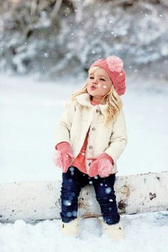 Snowflakes / little child love snowflakes! It's almost christmas time
