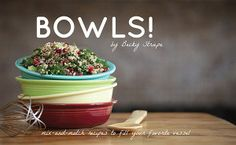Bowls cookbook and green smoothie recipe book