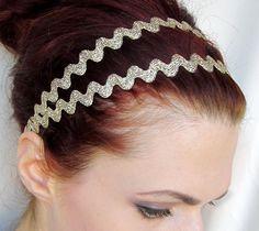 Grecian Headband: Goddess Headband - Gold Double Strand
