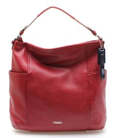 Another great find on #zulily! Crimson Leather Hobo Crossbody Bag by Coach #zulilyfinds