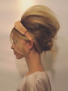 60s bouffant updo with headband - Google Search
