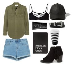 """""""army green outfit"""" by teensallover ❤ liked on Polyvore featuring Yves Saint Laurent, Zara, Issa de' mar, Dinks, NARS Cosmetics, Abercrombie & Fitch and Soda"""