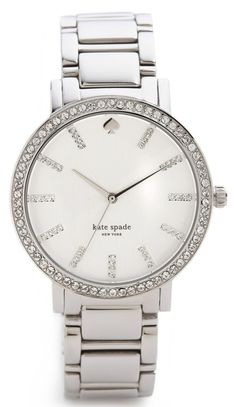 Silver Kate Spade Watch. I love super plain silver watches with no rhinestones or bling except for a singular ring around the face. Classy and simple