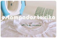 Nombres en vinilo para aplicar con la plancha!!! Personalizá tus prendas y no las pierdas!!!   Blister x 12 unidades. Variedad de colores.