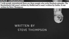 Steve Thompson! *shakes fist*. Sorry Moffat, it wasn't your fault after all...