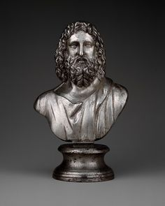 Silver bust of Serapis, 2nd century A.D. Roman. The Metropolitan Museum of Art, New York.