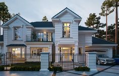 Projekt domu Willa Siedziba on Behance Rustic Salon, House Plans Mansion, 2 Storey House Design, Home Salon, Bedroom Accessories, Large Homes, Kitchen Colors, Villa, Farmhouse