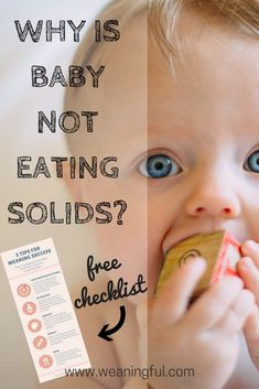 Whether you're doing traditional weaning (or the puree method) or baby led weaning (blw), your baby can sometimes refuse solids. Find the 10 reasons your baby doesn't eat food and get a free checklist that will help you towards weaning success! Guaranteed it works!