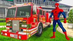 Пожарная машина человека паука #Мультики для мальчиков про машинки Детск...