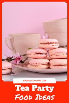 Here are 15 amazing ideas for tea party food.  Whether you're having a vintage tea party, bridal shower or book club meeting, here are delicious recipes for you. How To Make Tea, Food To Make, High Tea Menu, Party Food Menu, Hot Tea Recipes, Tea Organization, Tea Party Sandwiches, Raspberry Scones, Afternoon Tea Parties