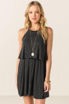 Katya Layered Striped Dress $38.00