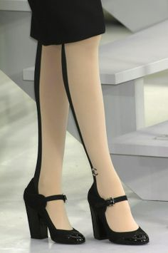 The Terrier and Lobster: Chanel Fall 2008 and Spring 2009 Half-and-Half Stockings