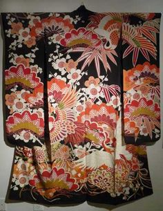Traditional kimono shows extreme contrast of colors which brought the idea of this design to mind.