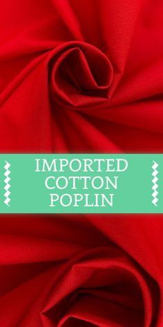 Imported Cotton Poplin in Bright Red (Made in Holland - Cotton) Smart Textiles, Textile Fabrics, Textile Pattern Design, Textile Patterns, Casual Clothes, Casual Outfits, Fabric Board, B And J Fabrics, Different Types Of Fabric