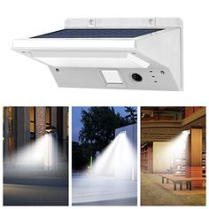 USYAO Solar Lights Outdoor, OPERNEE Stainless Steel Motion Sensor 21 LED Bright Wireless Wall Lights, Waterproof Security Light for Patio Yard Driveway Garden Outer Wall Activated Auto On/Off Switch >>> Want to know more, click on the image. (This is an affiliate link) #TeslaSolarRoofIdeas