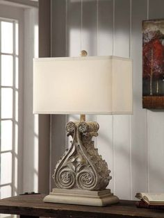 "Crestview Collection CVAUP820 Antique Corbel Table Lamp 30""Ht. 10/17 X 10/17 X 11"