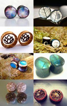 piercings and plugs. Plugs Earrings, Gauges Plugs, Ear Jewelry, Body Jewelry, Jewlery, Jewelry Art, Ear Piercings, Septum, Tattoo Und Piercing