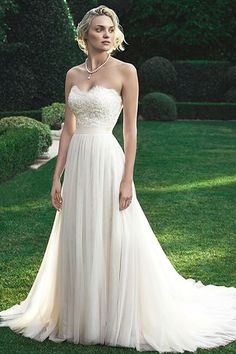 Wedding Gown by Casablanca Bridal | Fresh, breezy look for a beautiful bride