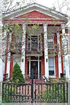 Town and Country Living: Historic Galena: Little Brick Houses