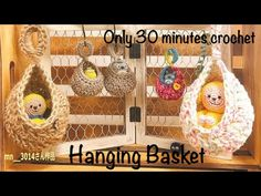 Hanging Baskets, Kugel, Crochet Projects, Burlap, Reusable Tote Bags, Knitting, Handmade, Youtube, Basket Weaving