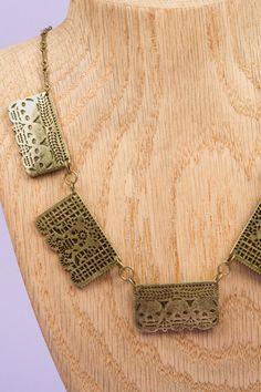 papel picado necklace. inspired by dia de los muertos.