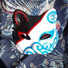 2015-japanese-style-upper-half-face-hand-painted-fox-masks-kitsune-gintama-masquerade-for-noh-party-halloween-carnival_29622158.jpeg (355×355)