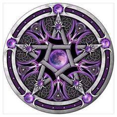 Purple Pentacle Tattoo