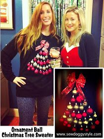 ADULT: DIY Ugly Christmas Sweater - Really Awesome Costumes. I will be making this sweater since I have a red sweater already and have tons of ornaments left over and a bow. Diy Ugly Christmas Sweater, Holiday Sweater, Christmas Fun, Xmas Sweaters, Christmas Things, Christmas Goodies, Tacky Sweater, Ugly Sweater Party, Cool Costumes