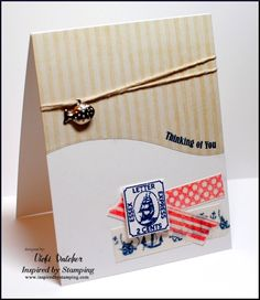 Using Washi Tape and Summer Postcard, Masculine Tag 11 -- Muse Challenge
