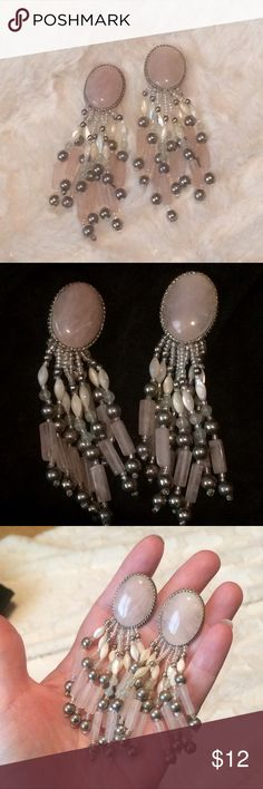 Vintage Rose Quart Chandelier Earrings These have always been a co unusual favorite of mine. Vintage Jewelry Earrings
