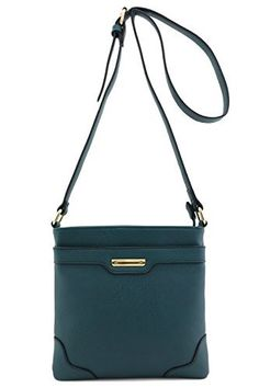 New Trending Cross Body Bags: Womens Medium Size Solid Modern Classic Crossbody Bag with Gold Plate (Hunter Green). Women's Medium Size Solid Modern Classic Crossbody Bag with Gold Plate (Hunter Green)  Special Offer: $15.95  277 Reviews This medium size casual crossbody bag is perfect for everyday use.9″ (L) x 9″ (H) x 1″ (D)Adjustable shoulder strap with 23.5″drop...