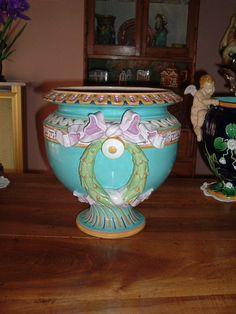 Minton planter. Impressed date code for 1873.