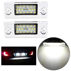 2 x libre de errores LED luces de la matrícula SMD para Audi A4 S4 1998-2001 blanca b5