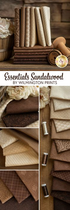 Essentials Sandalwood collection by Wilmington Prints is a beautiful tonal fabric collection featuring delicate designs and intricate details. 100% Cotton. Shop precuts, FQ Sets, and yardage now at www.shabbyfabrics.com. Wilmington Prints, Shabby Fabrics, Fabric Online, Quilting, Essentials, Delicate, Shop, Cotton, Beautiful