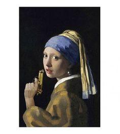 Arty Shock Schilderij Vermeer Meisje Met De Parel L multicolor plexiglas 100x150cm - wonenmetlef.nl