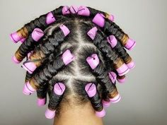 Perm Rod Set Tutorial for Natural Hair Natural Hair Perm Rods, Roller Set Natural Hair, Natural Hair Twist Out, Natural Hair Styles, Permed Hairstyles, Twist Hairstyles, Trending Hairstyles, African Hairstyles, Pretty Hairstyles