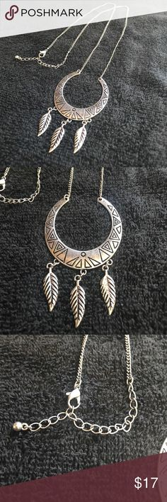 Silver Tribal Necklace Gently used necklace. Jewelry Necklaces
