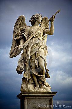bernini sculpture Statue of Angel. Berninis marble statue of angel on the SantAngelo Bridge in R , Bernini Sculpture, Angel Sculpture, Roman Sculpture, Sculpture Art, Sculptures, Angel Statues, Buddha Statues, Stone Statues, Cemetery Art