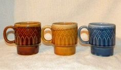 Vintage Stacking Retro Abstract Geometric Coffee Mugs Cups in Blue, Brown, and Gold Vintage Stacking Mugs Set http://www.amazon.com/dp/B010CYL3OA/ref=cm_sw_r_pi_dp_XL5Ivb0E52ACV
