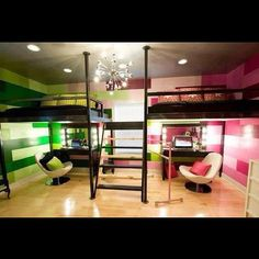 If you share a room with a sister then this a room for you it is so cool