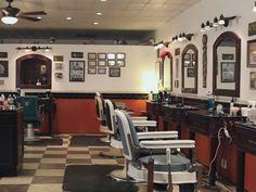 Man Cave Barber Williams Lake : Old barber shop print