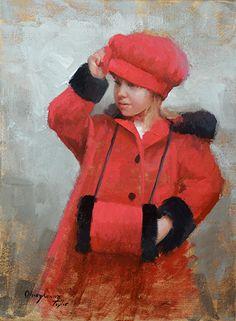 Marci Oleszkiewicz - Christmas Coat- Oil - Painting entry - August 2016…
