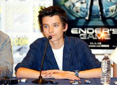 Asa Butterfield - Ender's Game. Comic Con 2013