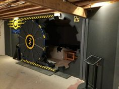 Video Game Room Ideas Fallout Gaming room vault door