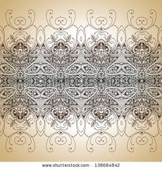 Vintage vector lace pattern. Hand drawn abstract background. Decorative retro banner. Can be used for banner, invitation, wedding card, scrapbooking and others. Royal vector design element. by Alextanya, via ShutterStock. Stock VECTOR available for sale at shutterstock.  (c)AlexTanya.