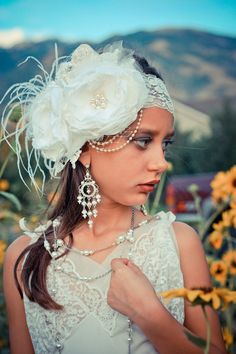 Gatsby en la venda superior diadema de la por ChloeRoseCouture