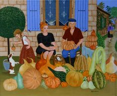 Monic  Michele - oeuvres disponibles He's Beautiful, Beautiful Artwork, Grandma Moses, Art Populaire, Naive Art, French Artists, Art Images, Folk Art, Disney Characters