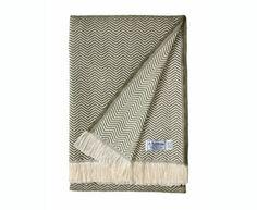 Herringbone - Olive Herringbone Cotton Blanket Amana $49.95 Made in America