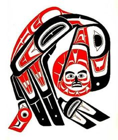 """A story called """"Raven Steals the Sun"""", from the book, Indian Legends of the Pacific Northwest, Nice story for children today, the shortest day of the year. Haida Kunst, Arte Haida, Haida Art, American Indian Art, Native American Fashion, Native American Art, Arte Tribal, Tribal Art, Haida Tattoo"""