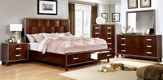 Safire 5 PC Bedroom Set by Furniture of America